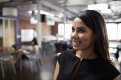 Portrait Of Businesswoman In Modern Open Plan Office Royalty Free Stock Photo