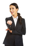 Portrait of a businesswoman offering teamwork Royalty Free Stock Photo
