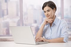 Portrait of businesswoman in office Stock Photography