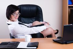 Portrait of businesswoman with organizer Royalty Free Stock Images