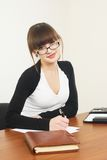 Portrait of businesswoman with organizer Royalty Free Stock Image