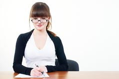 Portrait of businesswoman with organizer Stock Photo