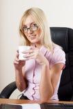 Portrait of businesswoman with organizer Stock Photos
