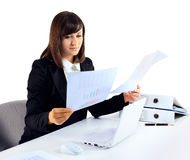 Portrait of a businesswoman with paperwork Stock Photography
