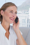Portrait of businesswoman on the phone Royalty Free Stock Photos
