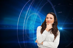 Portrait of a businesswoman posing Royalty Free Stock Photos