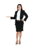 Portrait of businesswoman showing blank area Royalty Free Stock Photography
