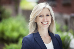 Portrait Of A Businesswoman Smiling At The Camera Royalty Free Stock Image