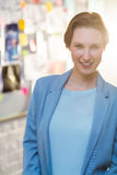 Portrait of businesswoman smiling Stock Photography