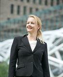 Portrait of a businesswoman smiling outdoors Royalty Free Stock Images