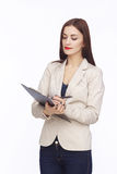 Portrait of businesswoman with tablet Royalty Free Stock Photo