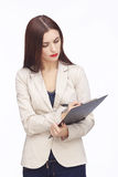 Portrait of businesswoman with tablet Royalty Free Stock Photos