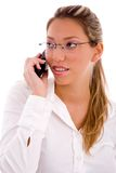 Portrait of businesswoman talking on cell phone Stock Image