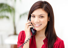 Portrait of a businesswoman talking on phone Royalty Free Stock Image