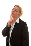 Portrait of businesswoman thinking Royalty Free Stock Photography
