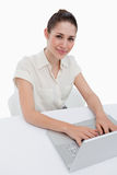Portrait of a businesswoman using a laptop Royalty Free Stock Photo