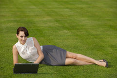 Portrait of a businesswoman using laptop Stock Photography