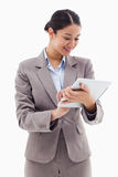 Portrait of a businesswoman using a tablet computer Royalty Free Stock Photo