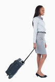 Portrait of a businesswoman walking Royalty Free Stock Image