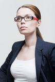 Portrait of a businesswoman wearing glasses Stock Images
