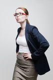 Portrait of a businesswoman wearing glasses Stock Image