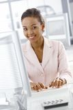 Portrait of businesswoman at work Royalty Free Stock Image