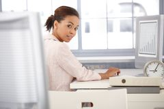 Portrait of businesswoman at work Royalty Free Stock Photography