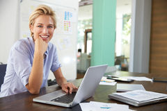 Portrait Of Businesswoman Working In Creative Office Stock Photography