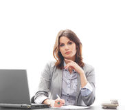 Portrait of a businesswoman working in office Stock Images