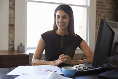 Portrait Of Businesswoman Working In Office Stock Image