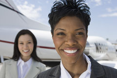 Portrait Of Businesswomen At The Airport Royalty Free Stock Photos
