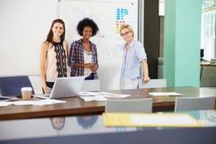 Portrait Of Businesswomen Having Creative Meeting In Office Royalty Free Stock Image