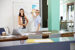 Portrait Of Businesswomen Having Creative Meeting In Office Royalty Free Stock Photography