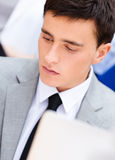Portrait of a busy businessman Stock Photography