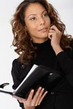Portrait of busy businesswoman Royalty Free Stock Image