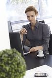 Portrait of busy businesswoman Royalty Free Stock Images