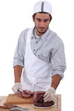 Portrait of a butcher Stock Photography