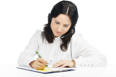 Portrait of call-center customer support operator Royalty Free Stock Images