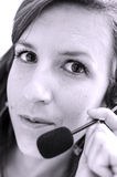 Portrait of call center employee Stock Photography