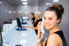 Image of a call center Royalty Free Stock Photo