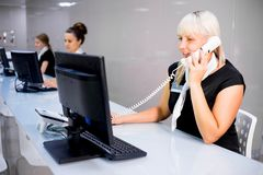 Image of a call center Stock Image