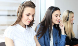 Portrait of call center worker Royalty Free Stock Images