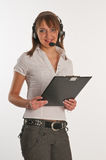 Portrait of a call centre employee Royalty Free Stock Photos