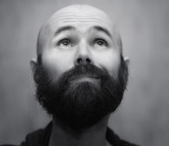 Portrait of  calm bearded man Stock Image