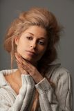 Portrait of a calm beautiful woman Stock Images