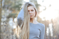 Portrait of calm beautiful young woman Stock Image