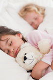 Portrait of calm children sleeping Stock Photo