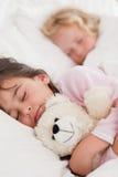 Portrait of calm children sleeping. In a bedroom Stock Photo