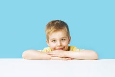 Portrait of the calm cute boy Stock Photos
