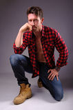 Portrait of a calm man Stock Image